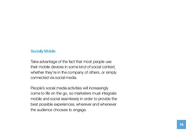 SociallyMobile Take advantage of the fact that most people use their mobile devices in some kind of social context, whethe...