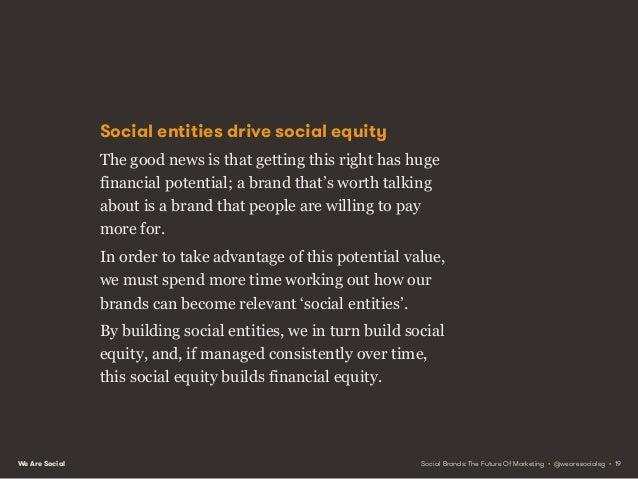 We Are Social PRINCIPLE 2 BUILD COMMUNITIES, NOT PLATFORMS Social Brands: The Future Of Marketing • @wearesocialsg • 20