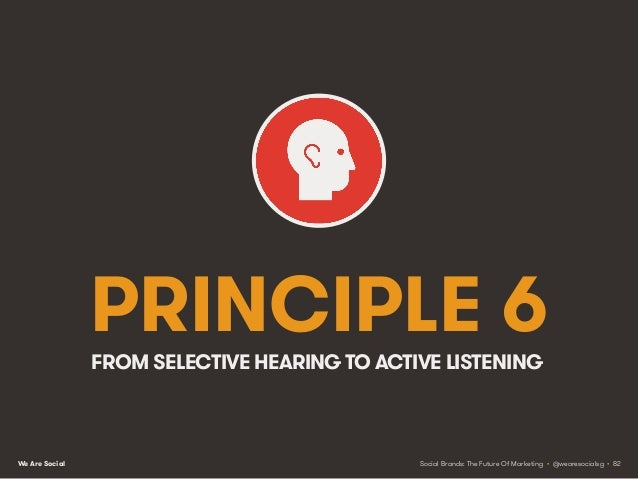 We Are Social Listening vs. asking As we saw in Chapter 3, marketing is all about creating mutually beneficial exchanges o...