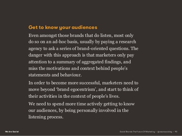 We Are Social Social listening vs. social monitoring Fortunately, rich insights are readily available to marketers with th...