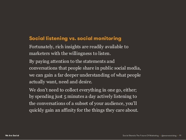We Are Social Social value beyond social media More importantly, these insights can add value well beyond your social medi...