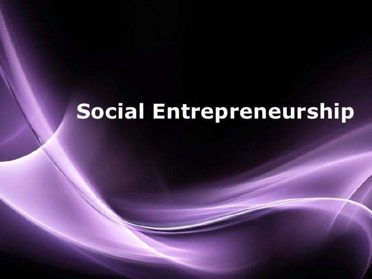 Social Entrepreneurship                    Page 1