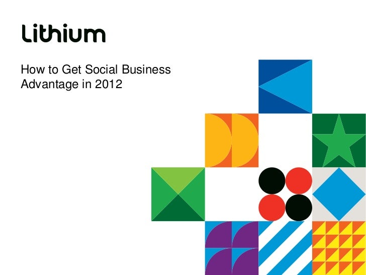 How to Get Social BusinessAdvantage in 2012