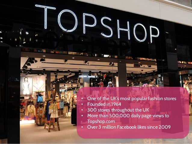 topshop case study Purpose – reviews the latest management developments across the globe and pinpoints practical implications from cutting‐edge research and case studies gap and topshop are two of the uk's leading fashion retailers, both targeting similar consumer groups and tasting success topshop has recorded extremely high.