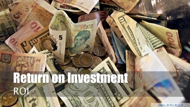 Return on Investment  ROI  epSos.de(CC BY 2.0)