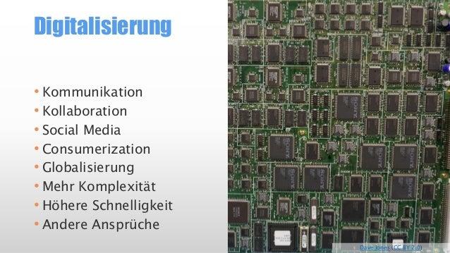 Digitalisierung  •Kommunikation  •Kollaboration  •SocialMedia  •Consumerization  •Globalisierung  •Mehr Komplexität  •Höhe...
