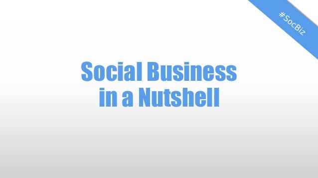Social Business in a Nutshell