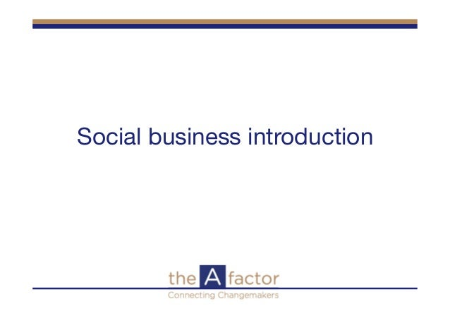 Social business introduction