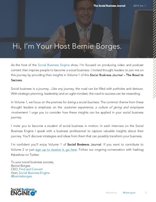 Social Business Journal Volume 1  Slide 2