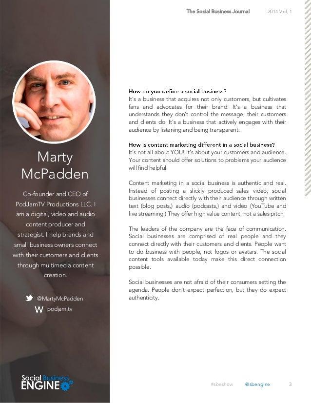 Social Business Journal Volume 1  Slide 3