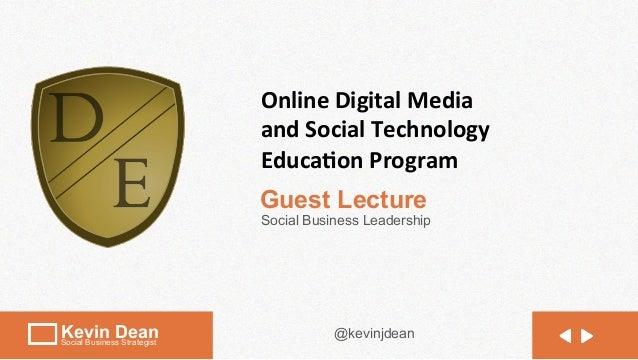 Online Digital Media                              and Social Technology                              Educa5on...