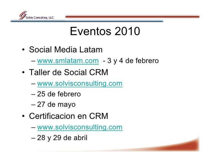 Taller: la Relación del Cliente por medio de los canales sociales