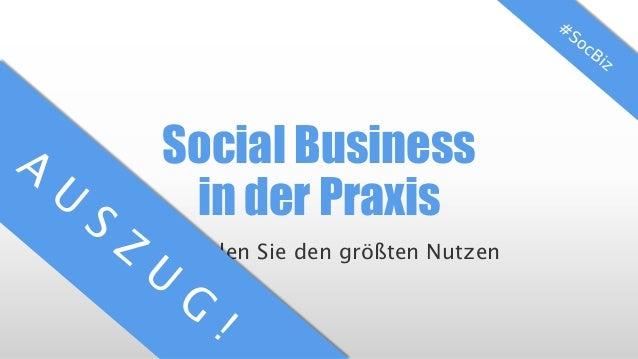 Social Business in der Praxis So erzielen Sie den größten Nutzen
