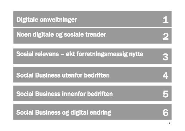 Social Business som digital endringsdriver Slide 2