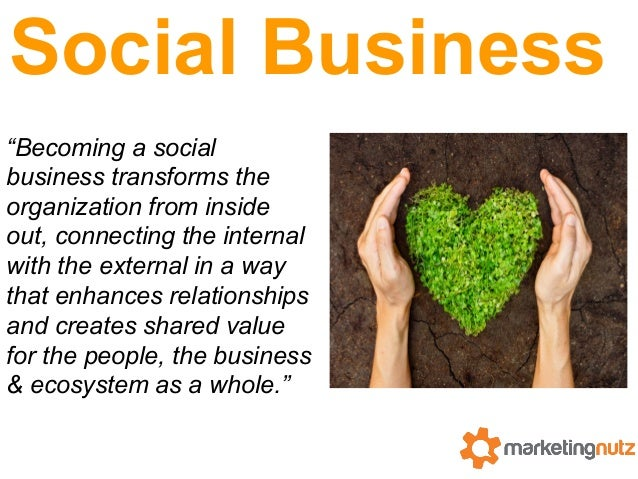 """Social Business """"Becoming a social business transforms the organization from inside out, connecting the internal with the ..."""