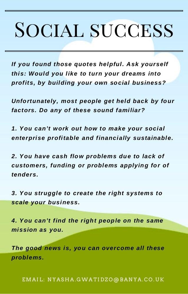 Social Business Success Quotes To Inspire Your Social Enterprise Jo