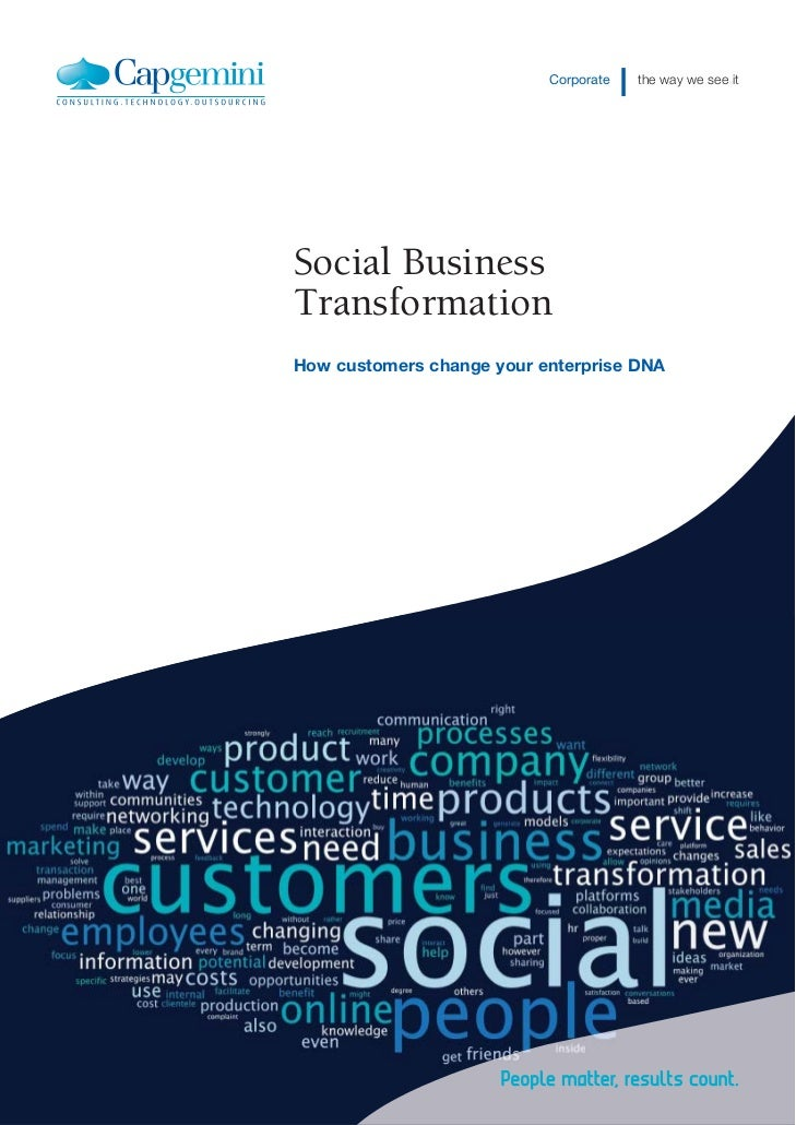 Corporate   the way we see itSocial BusinessTransformationHow customers change your enterprise DNA