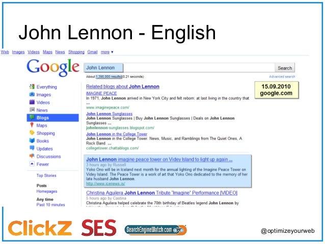 John Lennon – English   (Twitter)                                    @optimizeyourweb