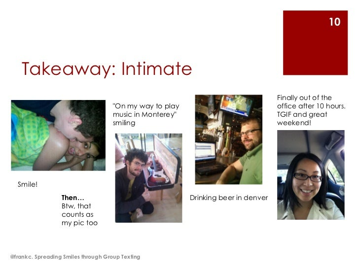 10    Takeaway: Intimate                                                                                    Finally out of...