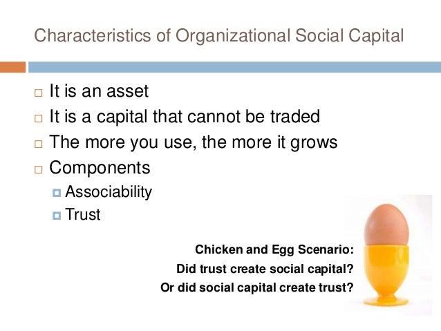 characteristics of social capital