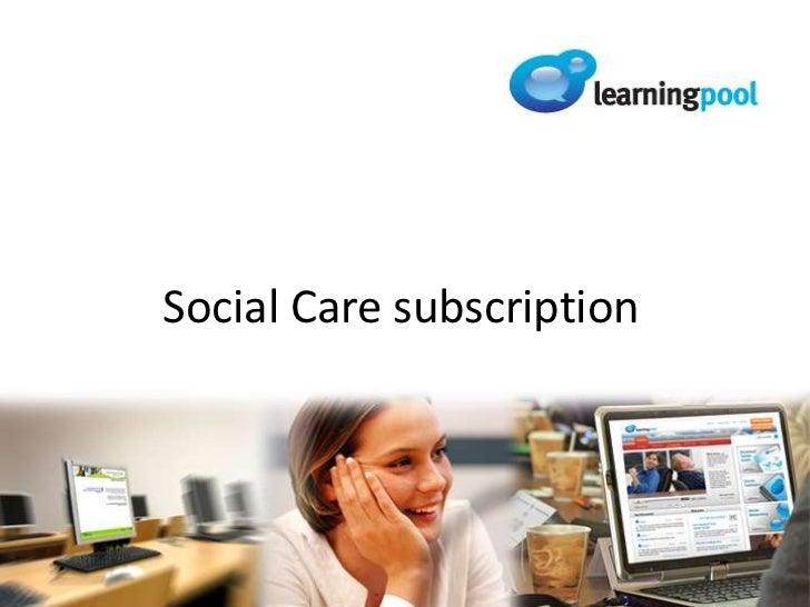Social Care subscription