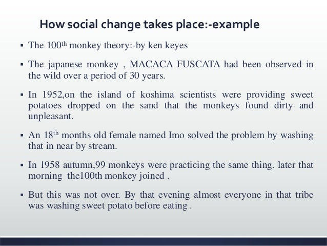 Why is this an example of social change? Ppt video online download.
