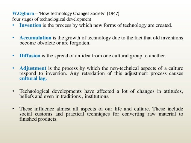 technical revolution and social change There then begins an epoch of social revolution  it should go without saying that this is not a view of social change that is mechanical or predestined.