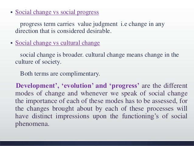 importance of social change in the society