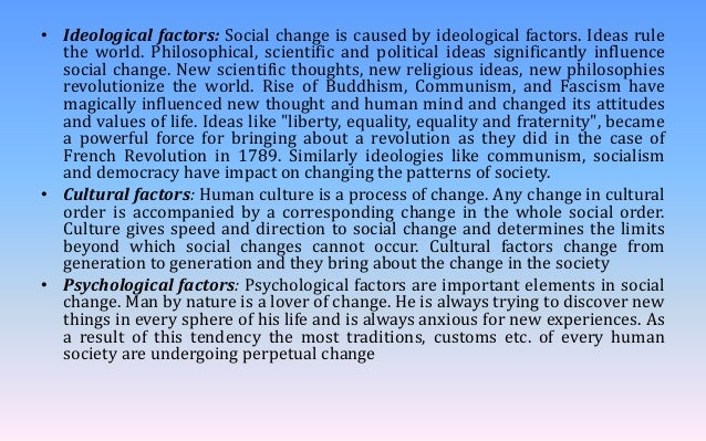 factors leading to social change
