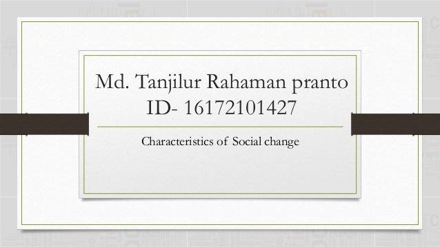 5 characteristics of social change
