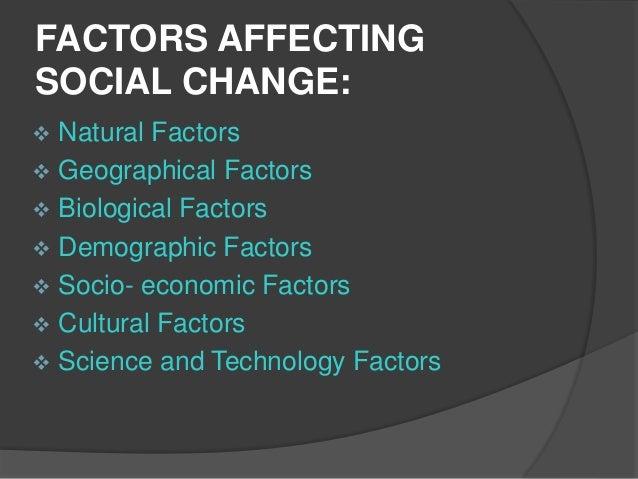 factors influencing social change