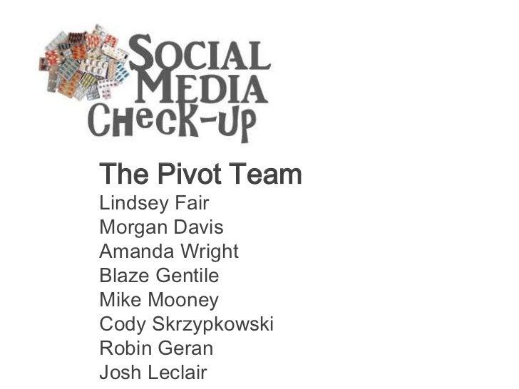 The Pivot TeamLindsey FairMorgan DavisAmanda WrightBlaze GentileMike MooneyCody SkrzypkowskiRobin GeranJosh Leclair