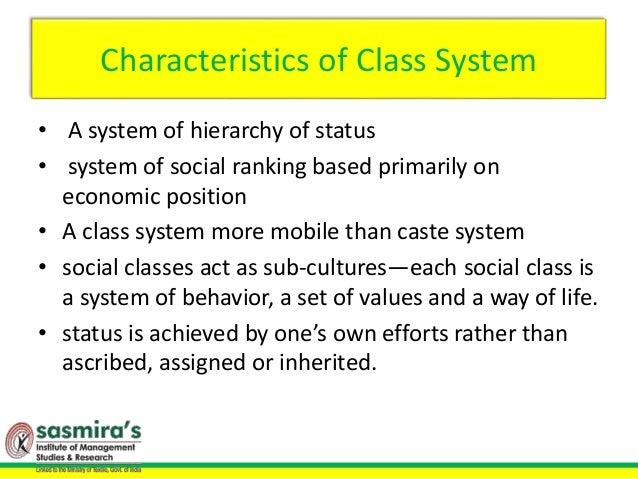 characteristics of class system