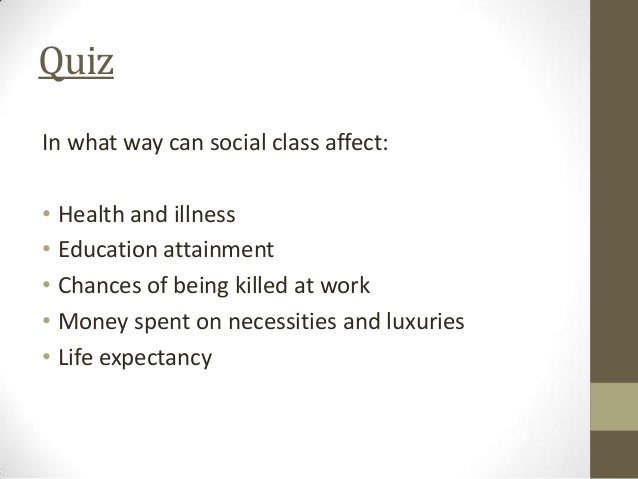 negative effects of social class