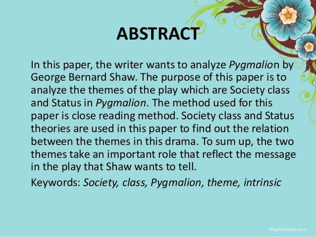 i drama social class and status in george bernard shaw s pyg on  pyg on by berliana ayu 2