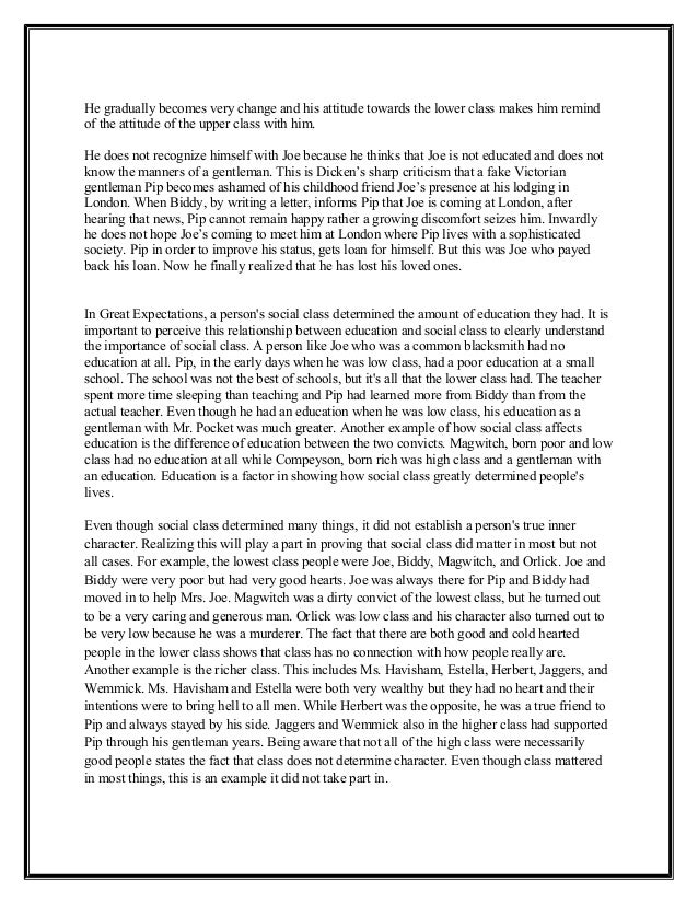 great expectation essay introduction A great expectations essay sample would be of help to students who are required to write essays on english literature it's about a young mans expectations from life, his tryst with destiny it's about a young mans expectations from life, his tryst with destiny.