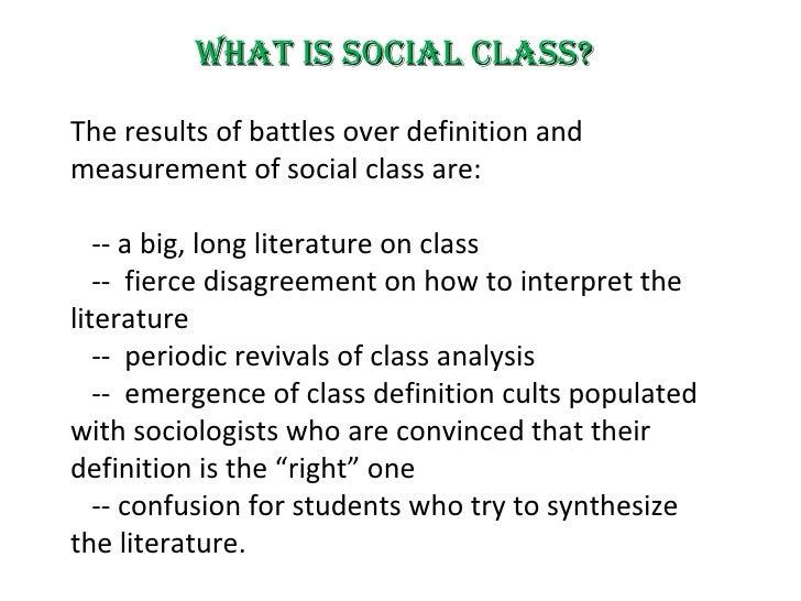 Modern Classroom Definition : Social class in modern times