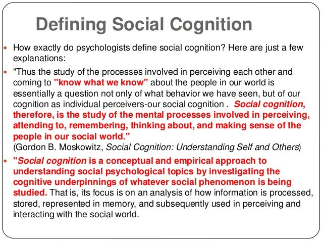 social cognition example