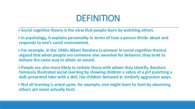 cognitive theory Presentation deals with the factors that impact on the learning process as posited by piaget, bloom, bruner and ausubel.