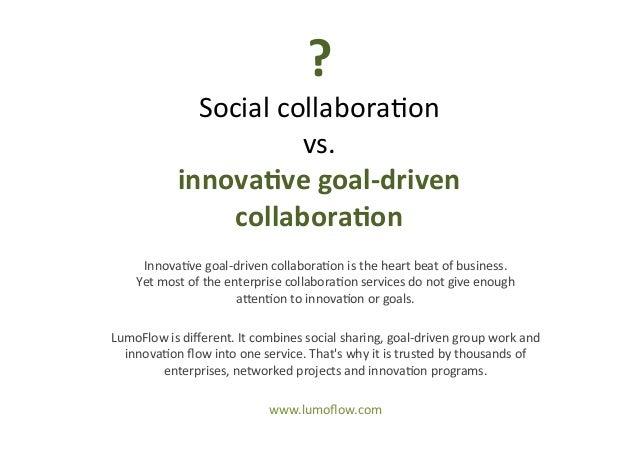 ?      Social  collabora*on   vs.   innova've  goal-‐driven   collabora'on   Innova*ve  goal-‐driven ...