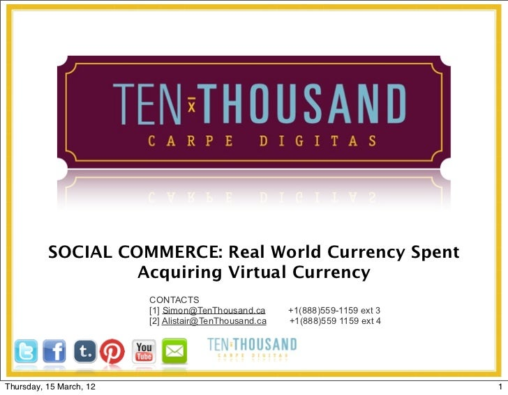 SOCIAL COMMERCE: Real World Currency Spent                   Acquiring Virtual Currency                         CONTACTS  ...
