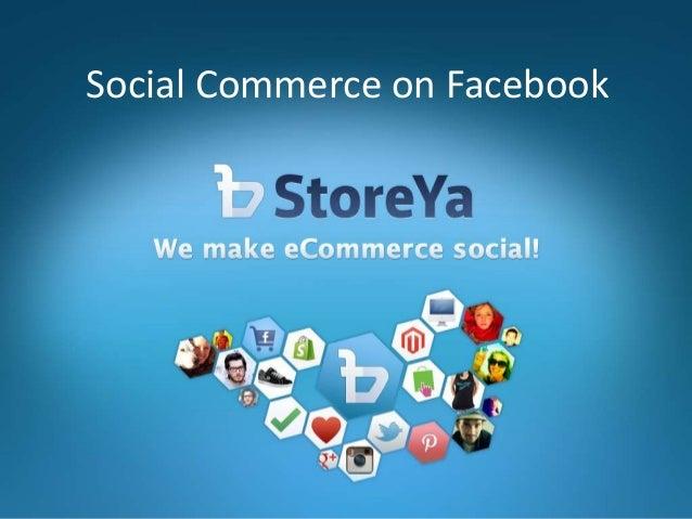 Social Commerce on Facebook