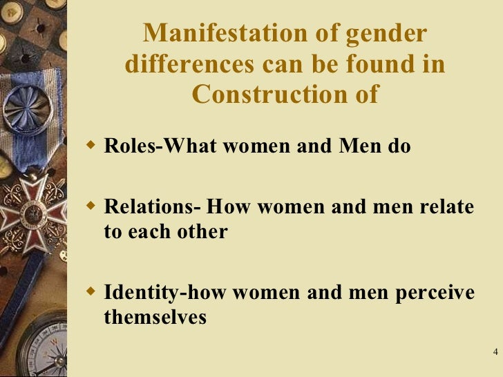 an analysis of gender as a socially constructed accomplishment Chapter 1: an introduction to gender construction that creates what we have so long thought of as natural and inexorable gender as social.