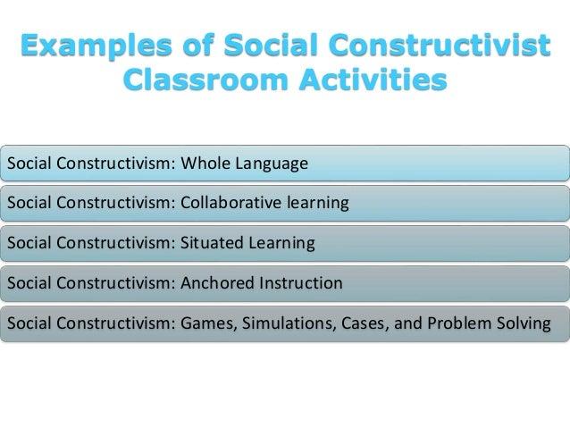 Examples of Social Constructivist Classroom Activities Social Constructivism: Whole Language Social Constructivism: Collab...