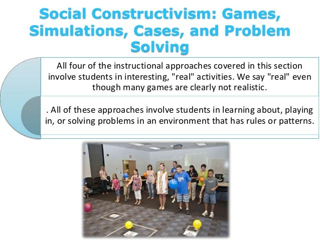 Social Constructivism: Games, Simulations, Cases, and Problem Solving All four of the instructional approaches covered in ...