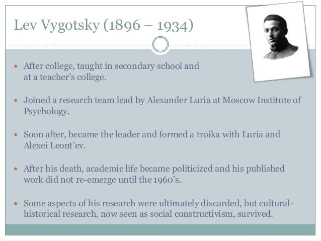 piaget and vygotsky were both considered constructivists education essay The compare and contrast piaget and vygotsky education is one of the most  compare and contrast essay piaget vygotsky  both piaget and vygotsky (1978) were.