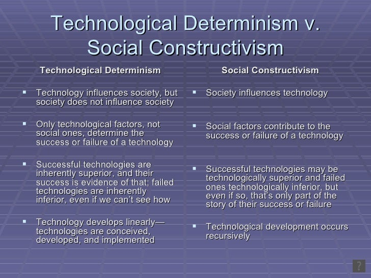 technological determinism theory essay My post earlier today alluded to a long standing debate regarding the personal and social consequences of technology it is usually described as a debate about technological determinism, a phrase that's been thrown around in these pages often enough, usually to indicate that i don't espouse the theory it.