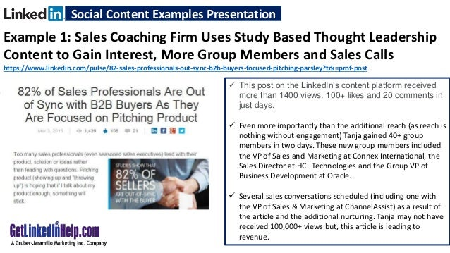 Examples of Social Content That's Generating Demand and Creating Sale…