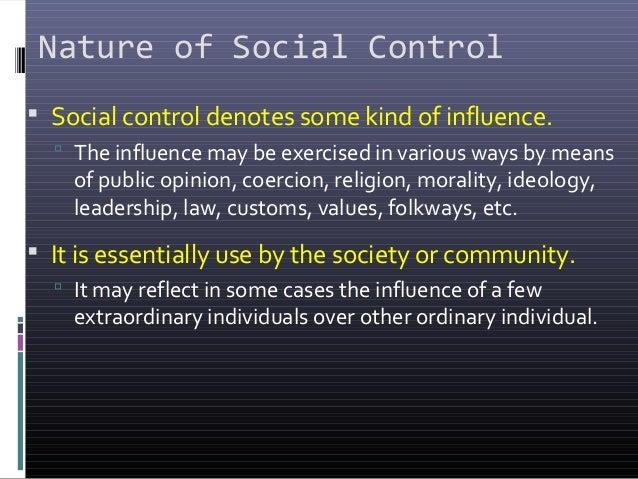 nature of social control