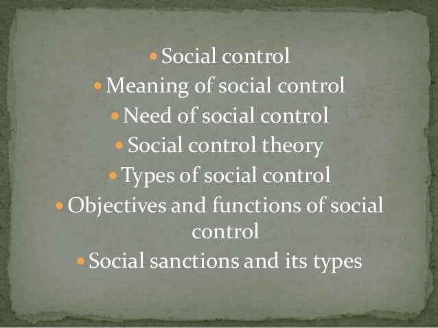 social control meaning